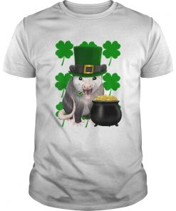 St Patricks Day Possum With Clovers  Unisex