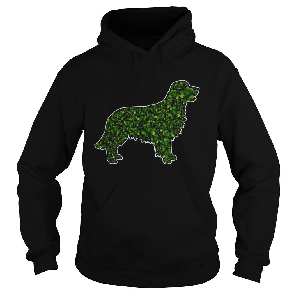 StPatricks Day Gift Dog Lover Fun Golden Retriever Shamrock Hoodie