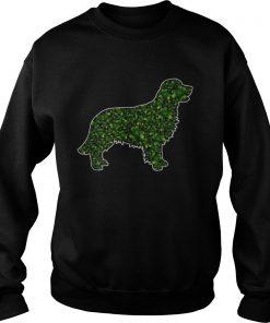 StPatricks Day Gift Dog Lover Fun Golden Retriever Shamrock  Sweatshirt