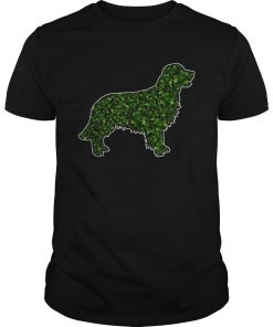 StPatricks Day Gift Dog Lover Fun Golden Retriever Shamrock  Unisex
