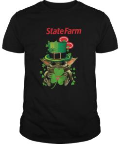 Star Wars Baby Yoda State Farm Shamrock St Patricks Day  Unisex