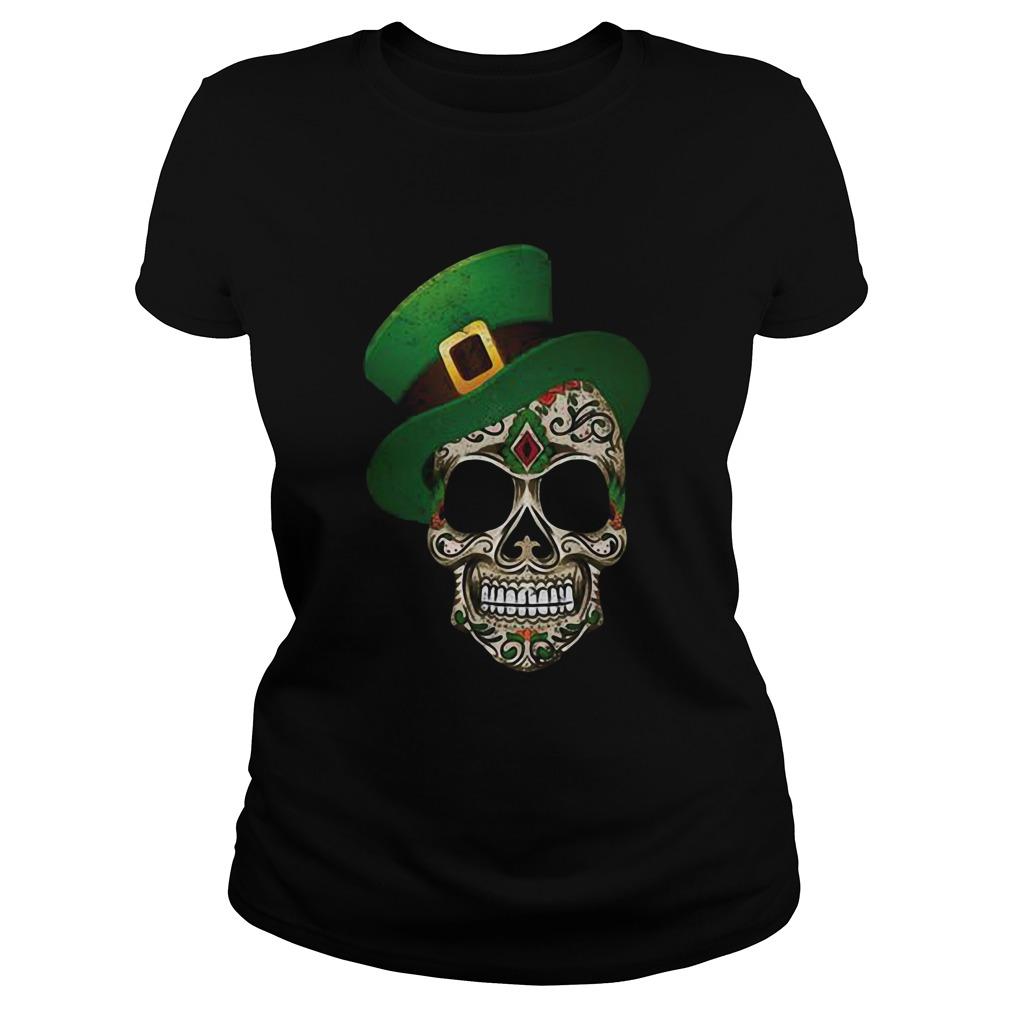 Sugar Skull St Patricks Day Classic Ladies