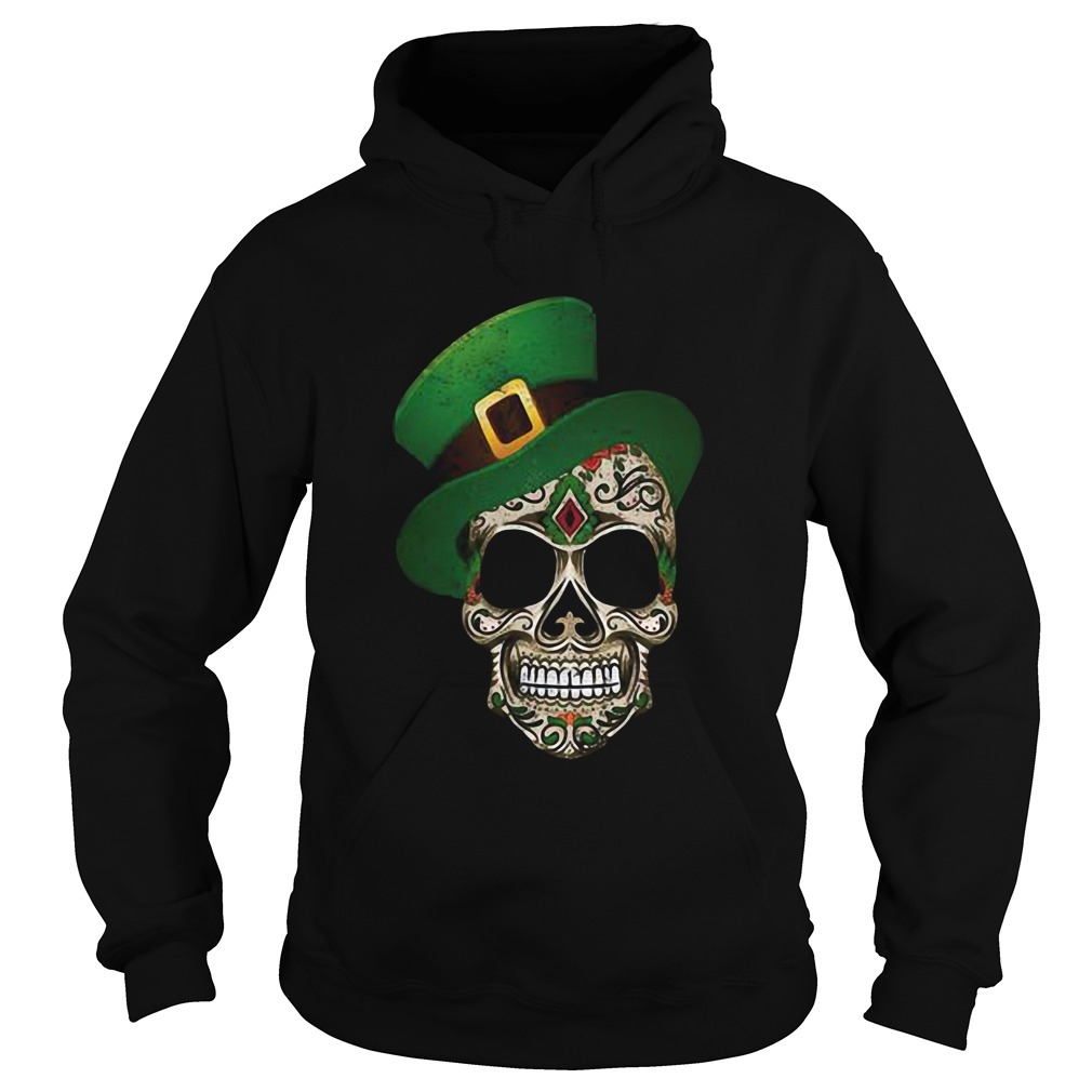 Sugar Skull St Patricks Day Hoodie
