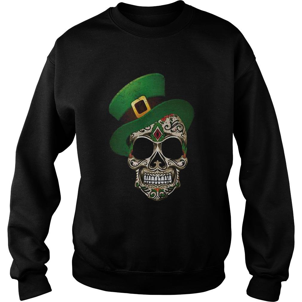 Sugar Skull St Patricks Day Sweatshirt