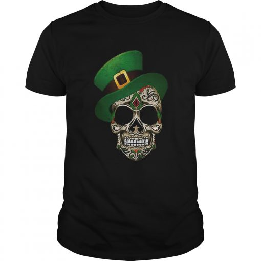 Sugar Skull St Patricks Day  Unisex