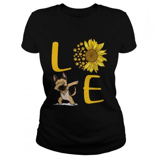 Sunflower Love dabbing dog  Classic Ladies