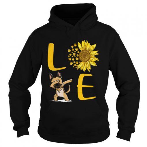 Sunflower Love dabbing dog  Hoodie