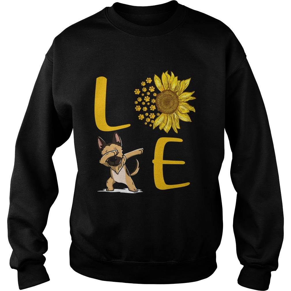 Sunflower Love dabbing dog Sweatshirt