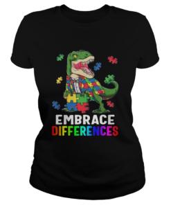 TRex Dinosaur Puzzle Piece Autism  Classic Ladies