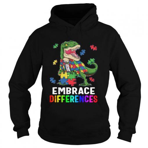 TRex Dinosaur Puzzle Piece Autism  Hoodie