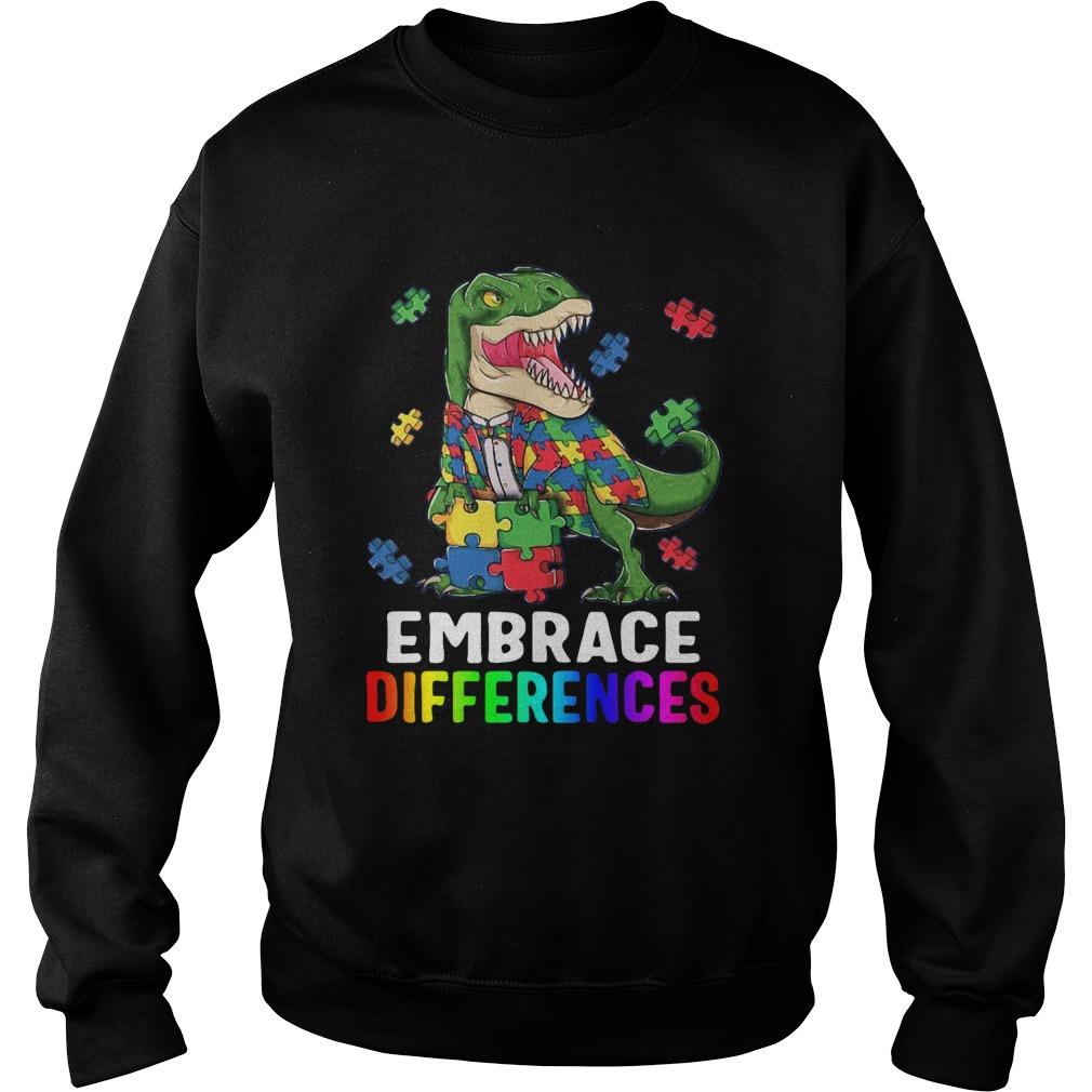 TRex Dinosaur Puzzle Piece Autism Sweatshirt