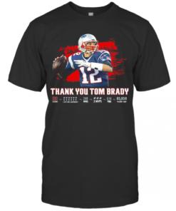 Thank You Tom Brady Patriots Football 2020 T-Shirt Classic Men's T-shirt