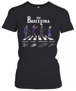 The Barcelona Crosswalk Signatures T-Shirt Classic Women's T-shirt