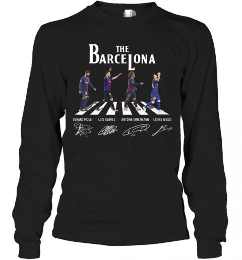 The Barcelona Crosswalk Signatures T-Shirt Long Sleeved T-shirt