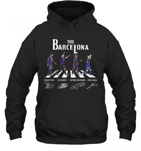The Barcelona Crosswalk Signatures T-Shirt Unisex Hoodie