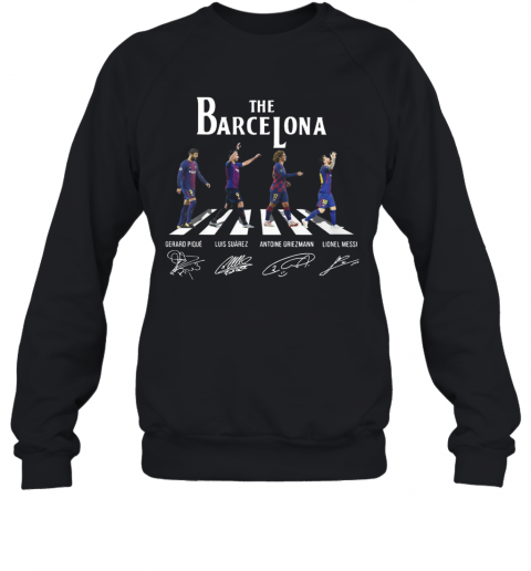 The Barcelona Crosswalk Signatures T-Shirt Unisex Sweatshirt