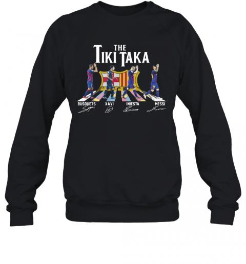 The Tiki Taka Crosswalk Signatures T-Shirt Unisex Sweatshirt