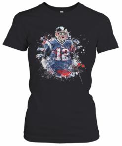 Tom Brady Player Football Art T-Shirt Classic Women's T-shirt