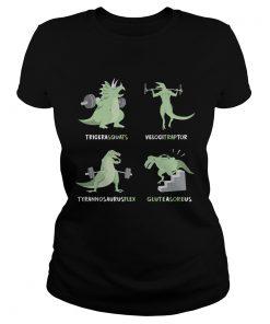 Tricera Squats Velocitraptor Tyrannosaurus Flex Gluteasoreus  Classic Ladies