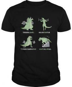 Tricera Squats Velocitraptor Tyrannosaurus Flex Gluteasoreus  Unisex