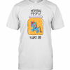 Unicorn Normal People Scare Me T-Shirt Classic Men's T-shirt