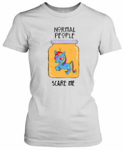 Unicorn Normal People Scare Me T-Shirt Classic Women's T-shirt