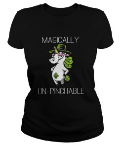 Unicorn St Patricks Day Magically Unpinchable  Classic Ladies