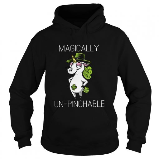 Unicorn St Patricks Day Magically Unpinchable  Hoodie