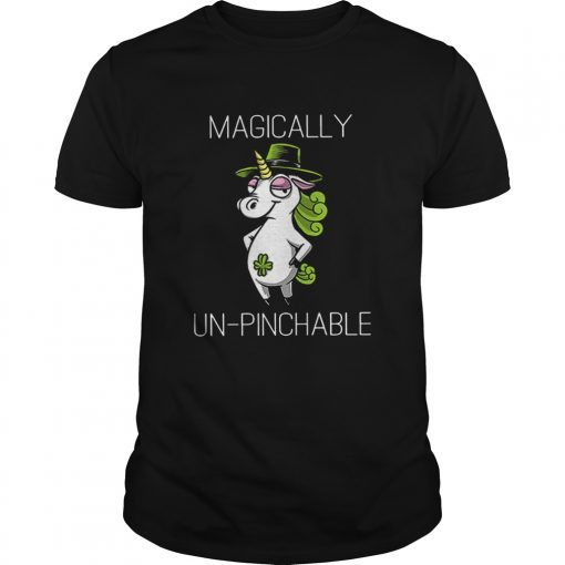 Unicorn St Patricks Day Magically Unpinchable  Unisex