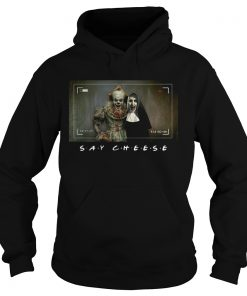 Valak And Pennywise Photo Say Cheese Friends Tv Show  Hoodie