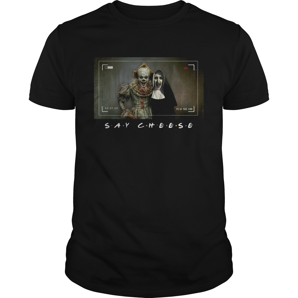 Valak And Pennywise Photo Say Cheese Friends Tv Show Unisex