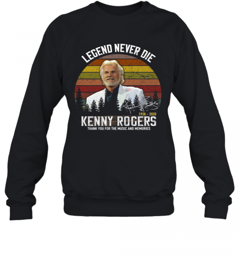 Vintage Legend Never Die Kenny Rogers T-Shirt Unisex Sweatshirt