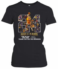 24 Hall Of Fame Kobe Bryant 1978 2020 Thank You For The Memories Signatures T-Shirt Classic Women's T-shirt