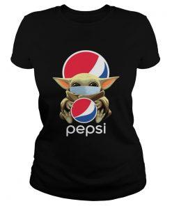 Baby Yoda Mask Hug Pepsi  Classic Ladies