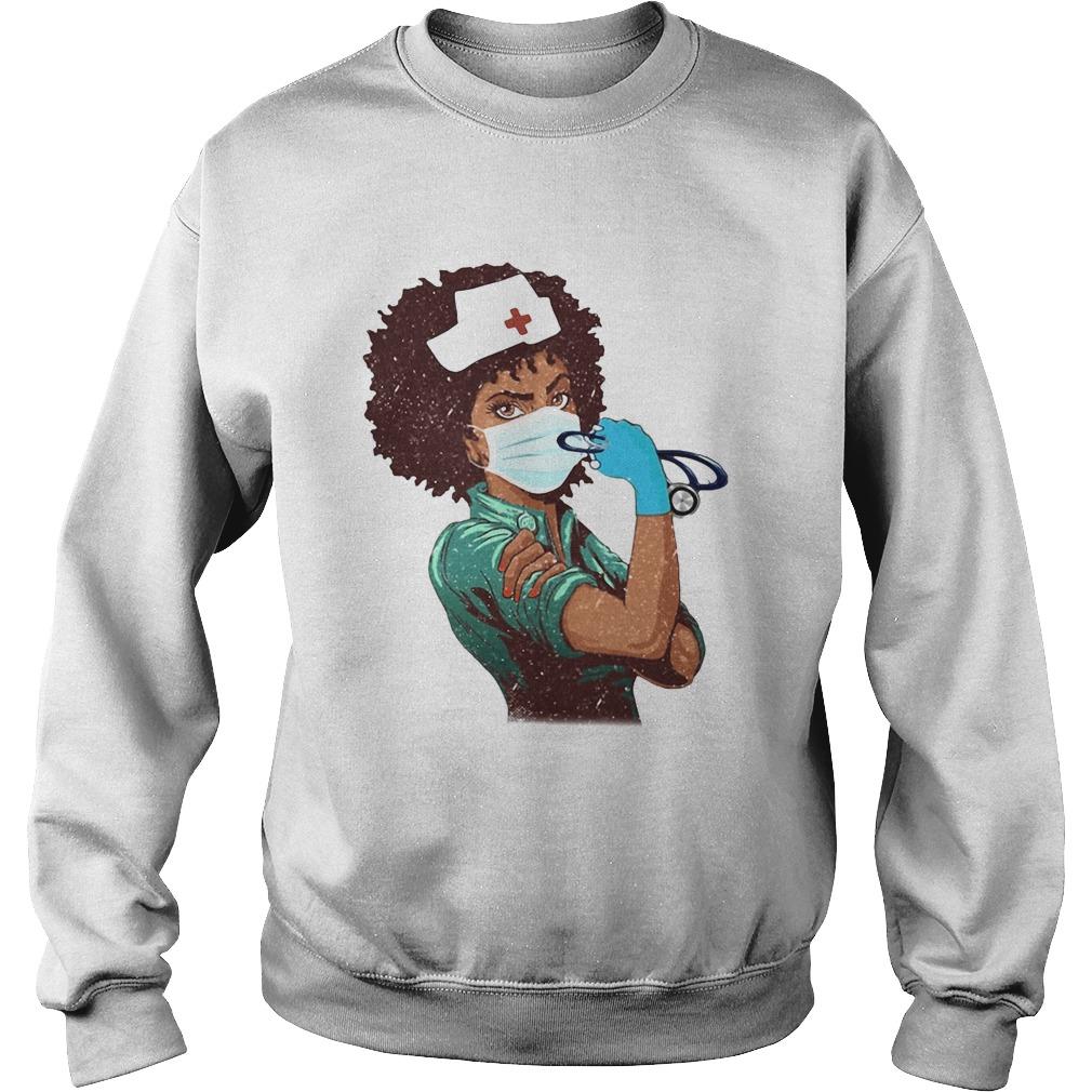 Black Nurse Strong Women  Sweatshirt