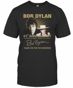 Bob Dylan 61Th Anniversary 1959 2020 Signature Thank You For The Memories T-Shirt Classic Men's T-shirt