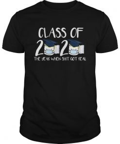 Class of 2020 Senior The Year When Shit Got Real Graduation Toilet Paper For  Unisex