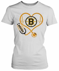 Heartbeat Nurse Love Boston Bruins T-Shirt Classic Women's T-shirt