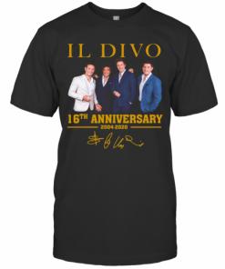 IL Divo Operatic Pop Band 16Th Anniversary 2004 2020 Signature T-Shirt Classic Men's T-shirt