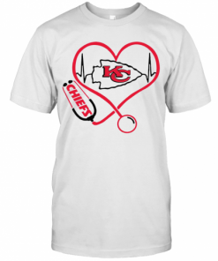 Kansas City Chiefs Heart Nurse Stethoscope T-Shirt Classic Men's T-shirt