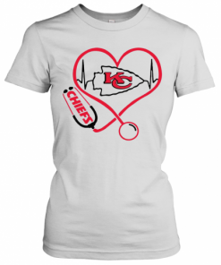 Kansas City Chiefs Heart Nurse Stethoscope T-Shirt Classic Women's T-shirt