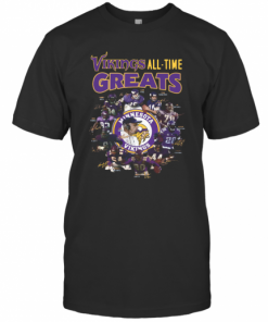 Minnesota Vikings All Time Greats Alan Page Randymoss Carl Eller Signatures T-Shirt Classic Men's T-shirt