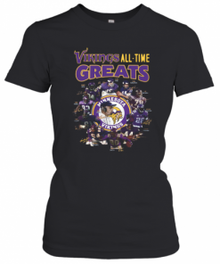 Minnesota Vikings All Time Greats Alan Page Randymoss Carl Eller Signatures T-Shirt Classic Women's T-shirt