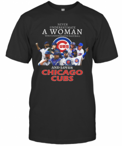 Never Underestimate A Woman Who Understands Baseball And Loves Chicago Cubs T-Shirt Classic Men's T-shirt