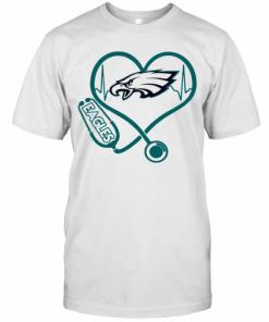 Nice Heartbeat Nurse Philadelphia Eagles Stethoscope T-Shirt Classic Men's T-shirt