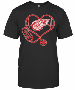 Nurse Heart Detroit Red Wings T-Shirt Classic Men's T-shirt