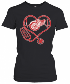 Nurse Heart Detroit Red Wings T-Shirt Classic Women's T-shirt