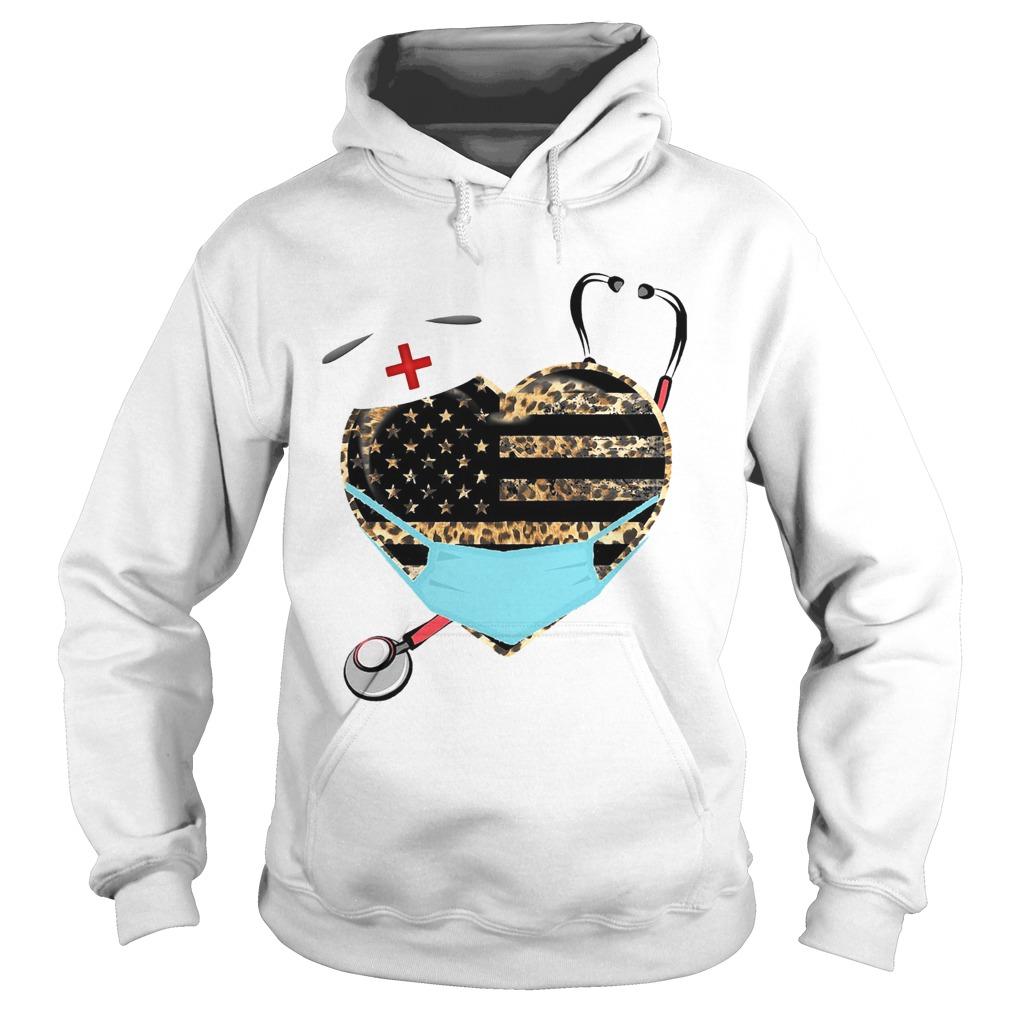 Nurse Heart Leopard Mask  Hoodie