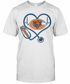 Stethoscope Heart Beat Chicago Bears T-Shirt Classic Men's T-shirt
