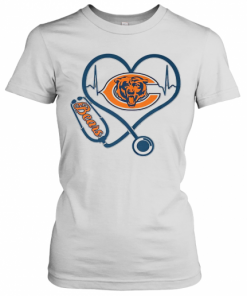 Stethoscope Heart Beat Chicago Bears T-Shirt Classic Women's T-shirt